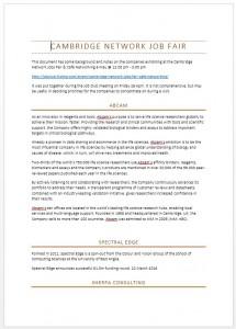 Notes on Cambridge Network Jobs Fair